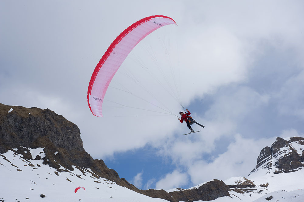 In flight at Flaine. Photo (c) Vincent Heuschling