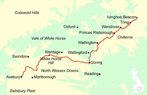 The route of the Ridgeway